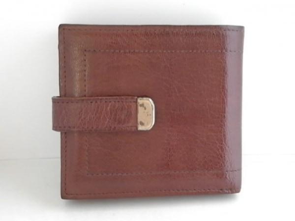 genten(ゲンテン) 2つ折り財布 ダークブラウン レザー