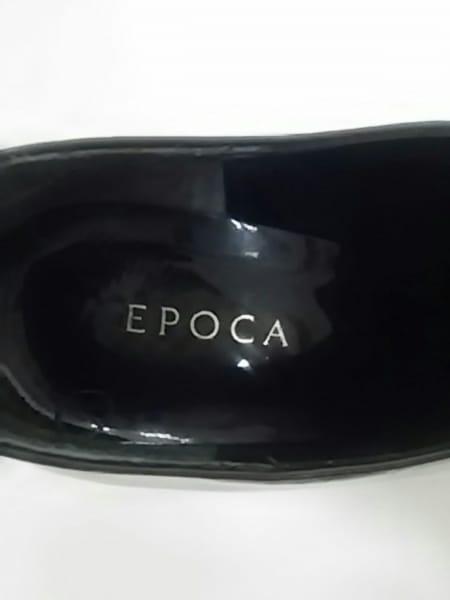 EPOCA(エポカ) ブーティ 37 レディース 黒 エナメル(レザー)
