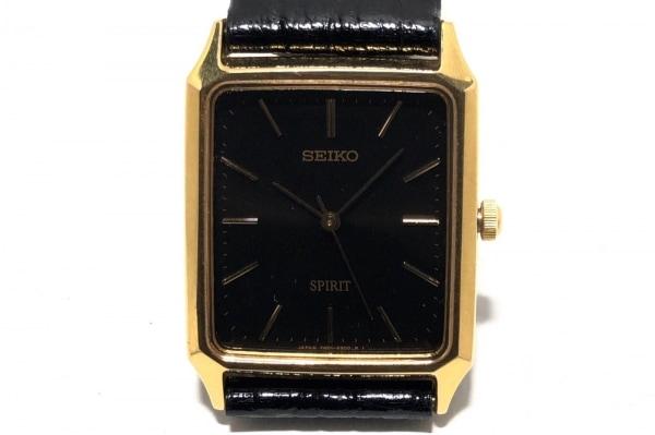 SEIKO(セイコー) 腕時計 SPIRIT 7N01-5180 レディース 型押し革ベルト 黒