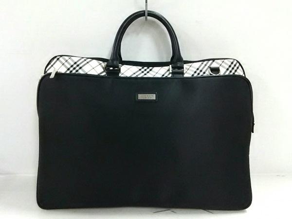 バーバリーブラックレーベル ビジネスバッグ美品  黒×白×ボルドー チェック柄