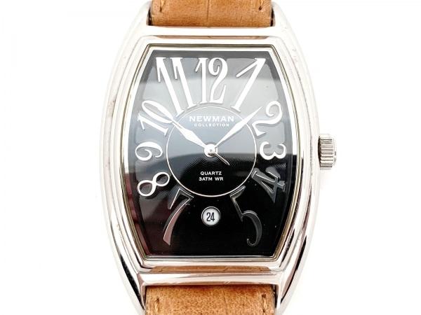 NEWMAN(ニューマン) 腕時計 - メンズ 革ベルト/COLLECTION 黒