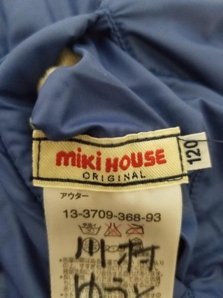 miki HOUSE(ミキハウス) ブルゾン サイズ120 ユニセックス ブルー リバーシブル/冬物