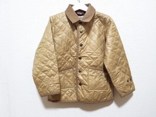 ミキハウス ブルゾン サイズ120 ユニセックス美品  ベージュ キルティング/冬物