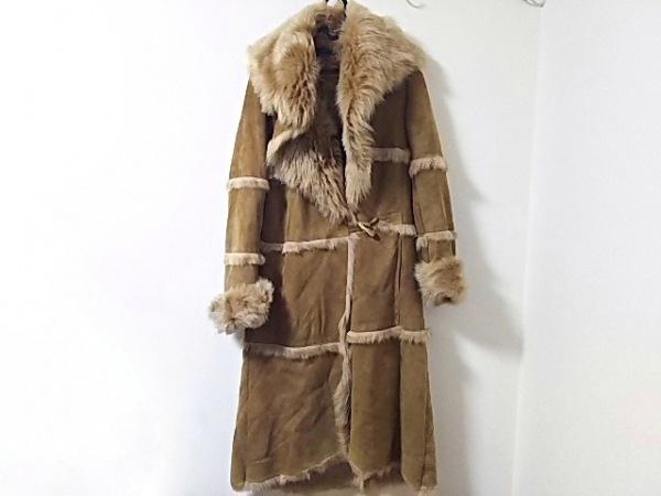 kulson(カルソン) コート サイズ40 M レディース美品  ライトブラウン ムートン/冬物