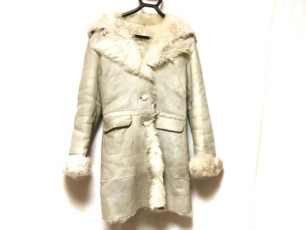 リトルニューヨーク コート サイズ4 XL レディース アイボリー ムートン/冬物