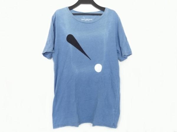 サタデーズ サーフ ニューヨーク 半袖Tシャツ サイズS メンズ ブルー