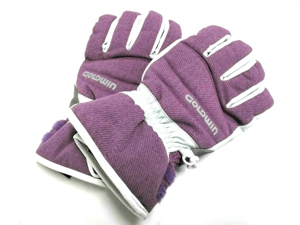 GOLDWIN(ゴールドウィン) 手袋 M レディース パープル×ライトグレー 化学繊維