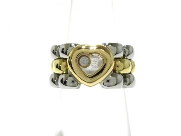 ショパール リング美品  ハッピーダイヤリング 82/8401-20 シルバー ハート/1Pダイヤ
