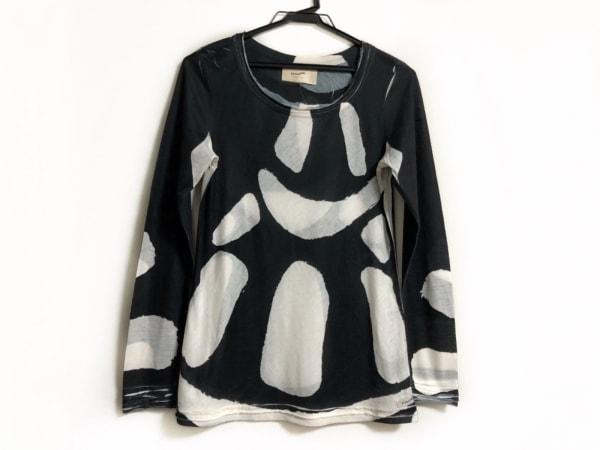 Tramando(トラマンド) 長袖カットソー サイズ2 M レディース 黒×白×ライトグレー