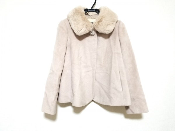LAISSE PASSE(レッセパッセ) コート サイズ38 M レディース美品  ピンク 冬物