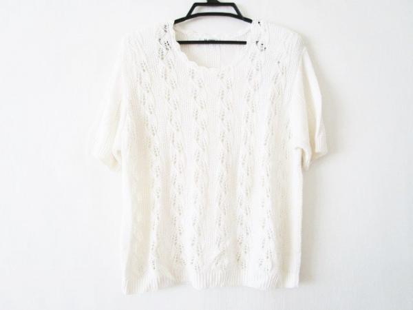 HERNO(ヘルノ) 半袖セーター サイズ48 XL レディース 白 肩パッド