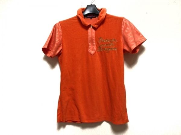 ダンスウィズドラゴン 半袖ポロシャツ サイズ2 M レディース オレンジ