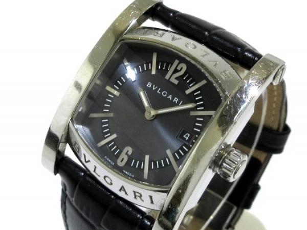 on sale f1ae0 0a3fd BVLGARI(ブルガリ) 腕時計 アショーマ AA39S メンズ 社外ベルト 黒