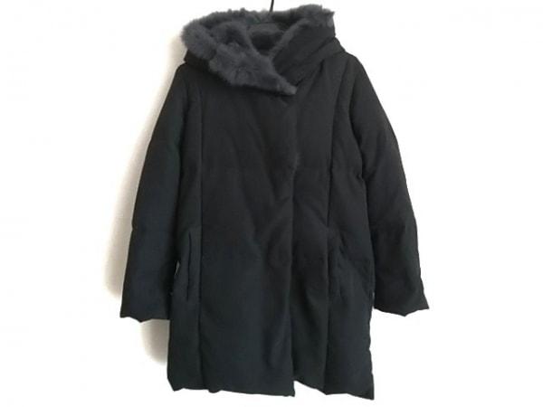 YEVS(イーブス) ダウンコート サイズS レディース 黒 冬物/ファー