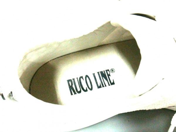 RUCO LINE(ルコライン) スニーカー 35 レディース美品  白 スパンコール×スエード