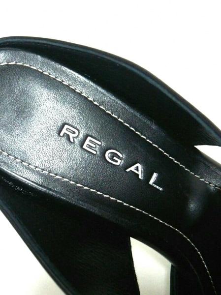REGAL(リーガル) ミュール 22 レディース新品同様  黒 レザー