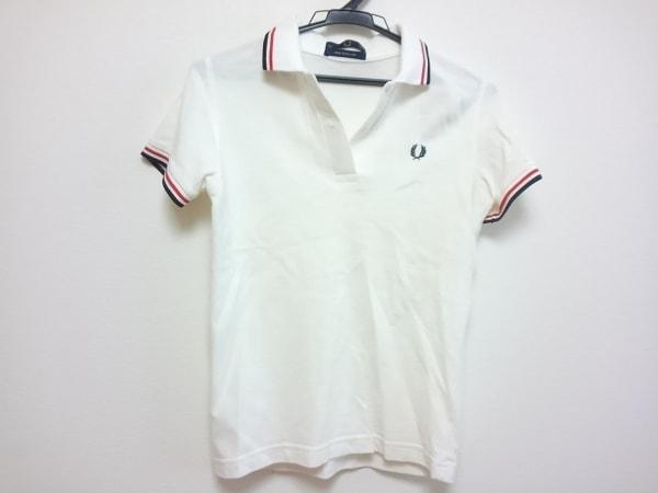 0d7ecfa8dc04 FRED PERRY(フレッドペリー) 半袖ポロシャツ レディース 白×ネイビー×レッド