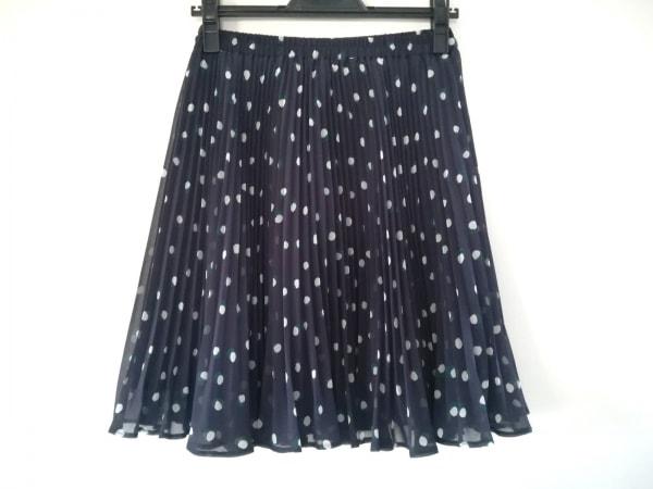 ジャスグリッティー スカート サイズ1 S レディース美品  ネイビー×白×グリーン