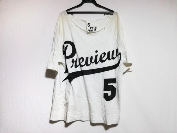 5preview(ファイブプレビュー) 半袖Tシャツ サイズ1 S レディース 白×黒