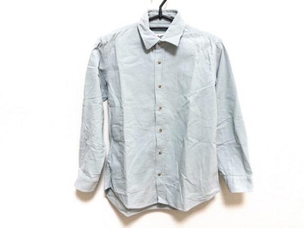 ボンポワン 長袖シャツ サイズ12 メンズ美品  ライトブルー キッズ/コーデュロイ