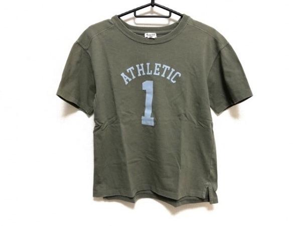 Bonpoint(ボンポワン) 半袖Tシャツ サイズ12 メンズ カーキ×ライトブルー キッズ