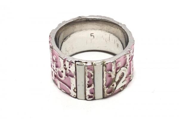 クリスチャンディオール リング トロッター 金属素材 ピンク×シルバー サイズ:5