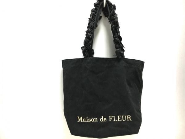 Maison de Reefur(メゾン ド リーファー) トートバッグ 黒 フリル キャンバス