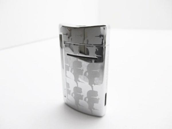 Dupont(デュポン) ライター美品  シルバー×ライトグレー KARL LAGERFELD 金属素材