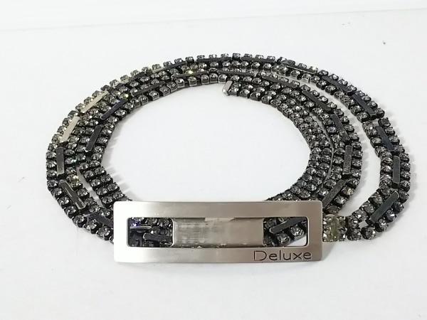DELUXE(デラックス) ベルト シルバー×クリア 金属素材×ラインストーン