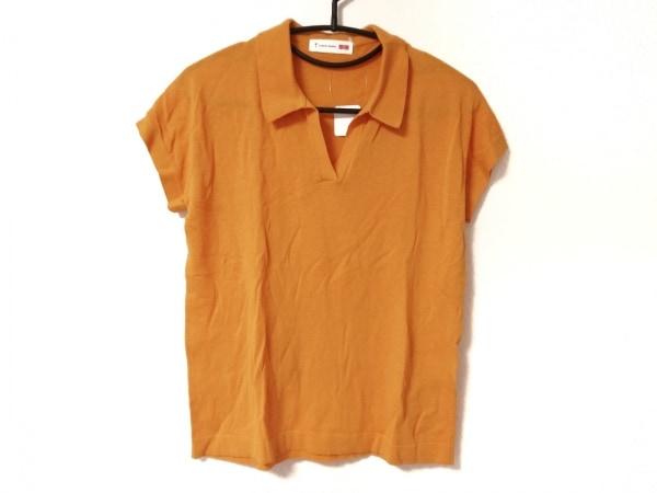 トーマスマイヤー 半袖ポロシャツ サイズM レディース オレンジ ×ユニクロ