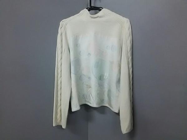 エルメス 長袖セーター サイズ9 M レディース アイボリー×ライトブルー×ピンク