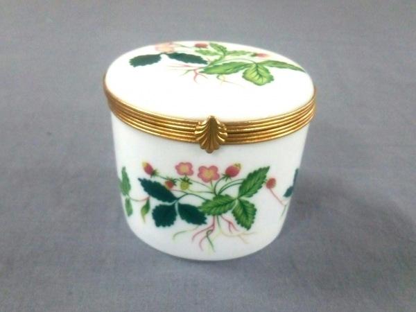 レイノー 小物 白×グリーン×マルチ 花柄/キャンドルボックス 陶器×金属素材