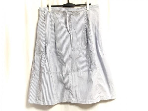ギャレゴデスポート スカート サイズS レディース美品  ブルー×白 ストライプ