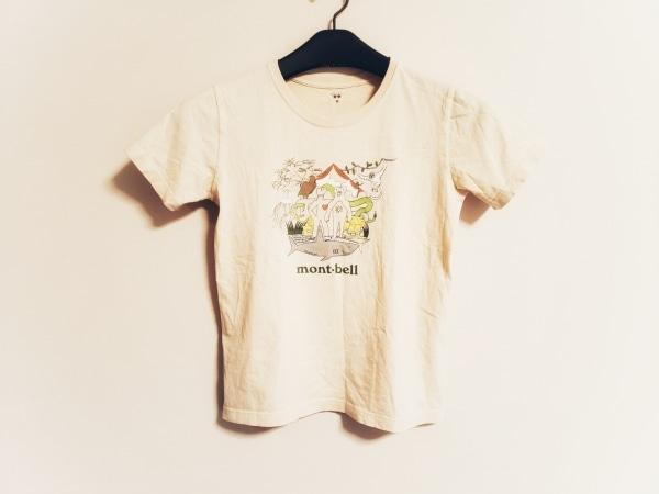 mont-bell(モンベル) 半袖Tシャツ サイズM レディース アイボリー×マルチ