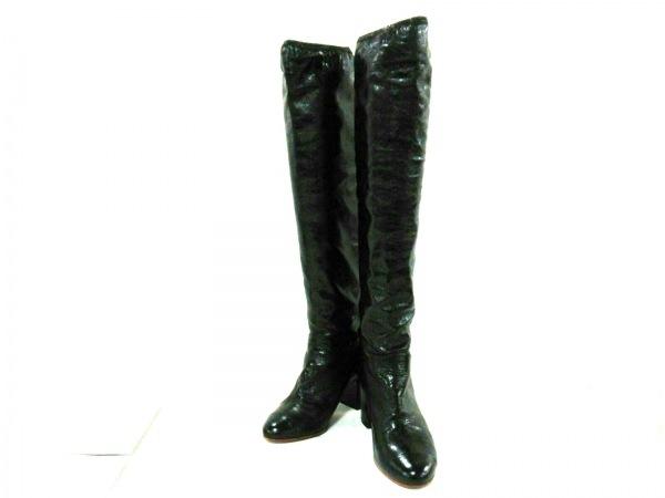 f0ffff67b8c6 CHANEL(シャネル) ロングブーツ 36 レディース美品 黒 レザーの古着 ...