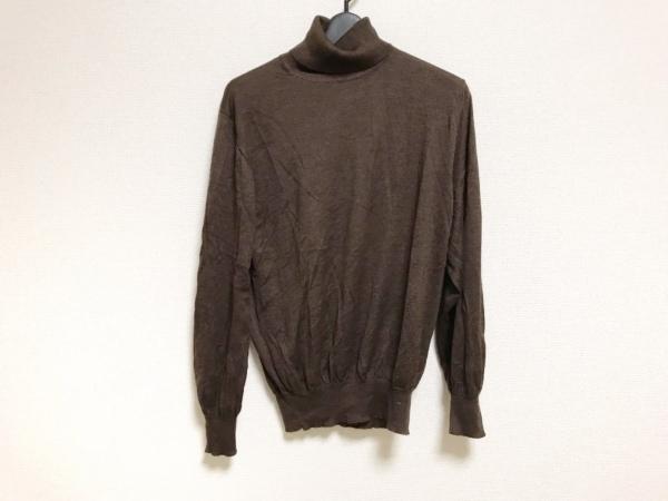 ラヴァッツォーロ 長袖セーター サイズ50 メンズ美品  ダークブラウン タートルネック
