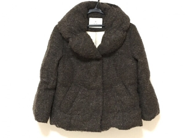ef-de(エフデ) ダウンジャケット サイズ11 M レディース ダークブラウン 冬物
