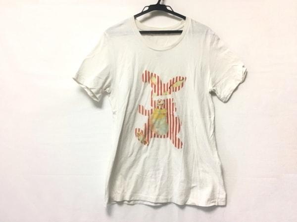 アンダーカバー 半袖Tシャツ サイズ2 M レディース アイボリー×レッド×マルチ