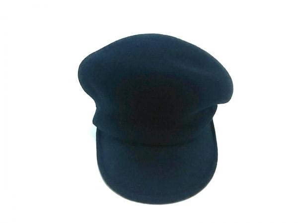 CA4LA(カシラ) 帽子 黒 キャスケット ウール