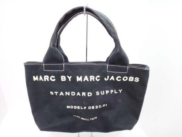 マークバイマークジェイコブス ハンドバッグ - 黒×アイボリー キャンバス