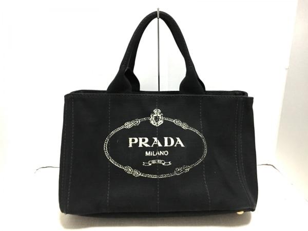PRADA(プラダ) トートバッグ美品  CANAPA BN2642 黒 キャンバス