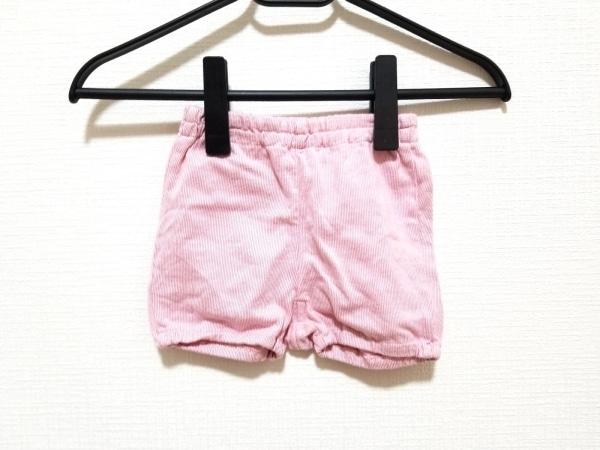familiar(ファミリア) ショートパンツ サイズ70 ユニセックス 白×ピンク ストライプ