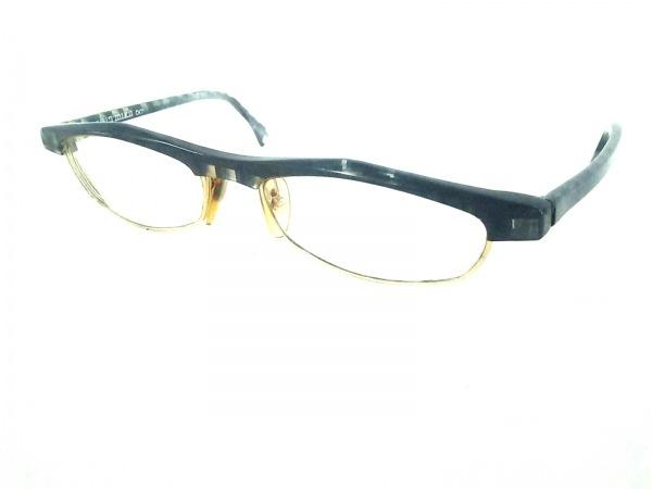 アラン・ミクリ メガネ美品  2678 ゴールド 度入り 金属素材×プラスチック