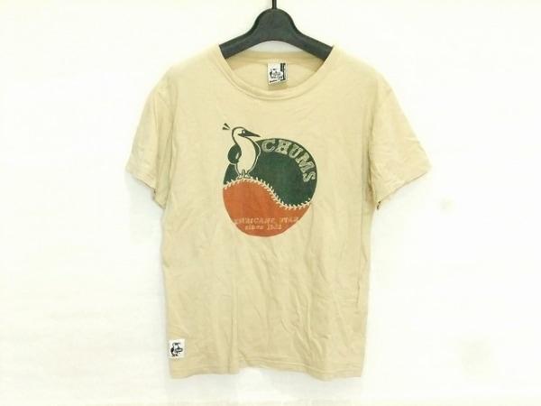 CHUMS(チャムス) 半袖Tシャツ サイズXS レディース ベージュ×グリーン×オレンジ