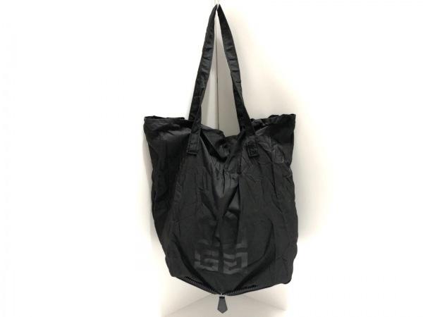 GIVENCHY(ジバンシー) トートバッグ - 黒 折り畳み ナイロン×レザー