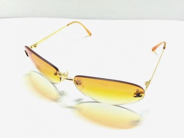 シャネル サングラス 4013 オレンジ×ゴールド ココマーク プラスチック×金属素材