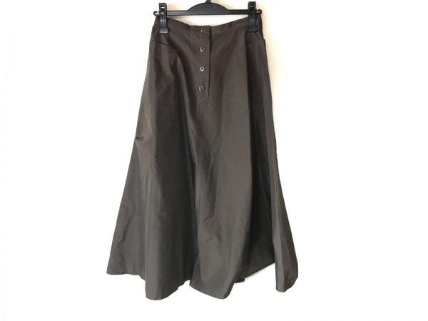 YOSHIE INABA(ヨシエイナバ) ロングスカート サイズ9 M レディース カーキ