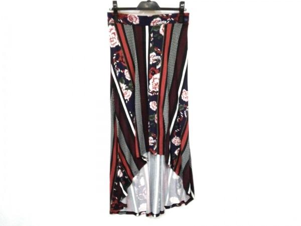 Desigual(デシグアル) スカート サイズM レディース美品  黒×レッド×マルチ
