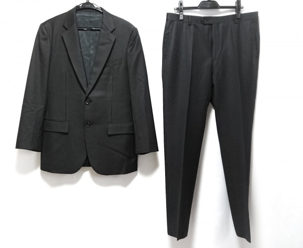 allegri(アレグリ) シングルスーツ サイズAB5 メンズ美品  黒 ストライプ