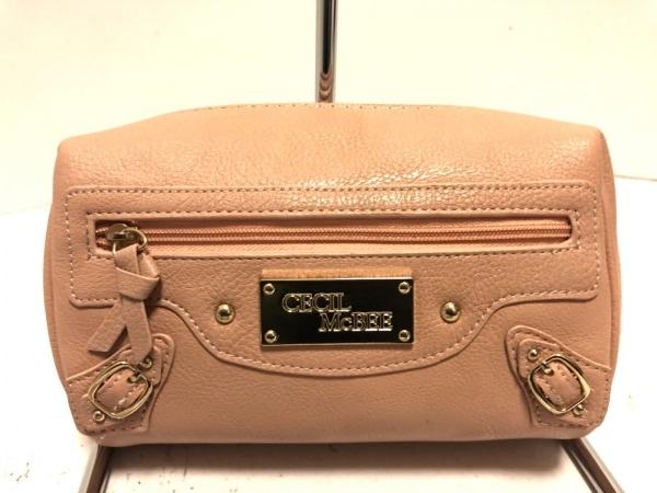 CECILMcBEE(セシルマクビー) セカンドバッグ美品  ピンク 合皮